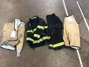 Liners are separated from outer shells to be cleaned separately. (Photo/Courtesy Jeff Knobbe, ACFD)