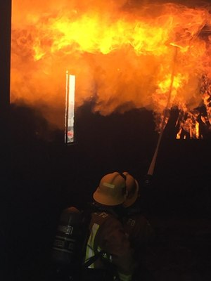 Live fire training with the Victorville FD. (Photo/City of Victorville)