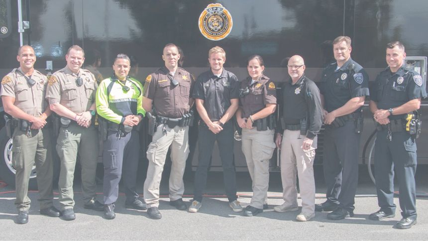 Officers from multiple agencies came together for Operation Rio Grande. Pictured right to left: Salt Lake County Sheriff; Salt Lake City Police Department; Utah Department of Public Safety - Utah Highway Patrol, State Bureau of Investigation; Utah Department of Corrections, Adult Probation and Parole; and Unified Police Department. (Photo/Utah Department of Public Safety)