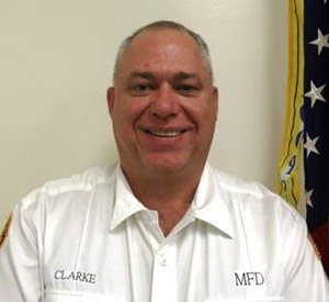 Late Fire Chief Noel Clarke of the Moundsville, West Virginia, Fire Department