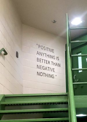 A quote painted on the wall inside the Yavapai County jail's mental health unit.(Photo/Yavapai County Sheriff)