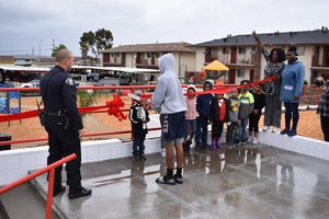 In January 2019, the new Del Monte Manor playground opened thanks to a collaborative effort between residents and the City of Seaside police and fire departments. (Photo/Nick Borges)