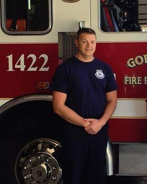 "Godfrey Fire Department Capt. Jacob ""Jake"" Ringering died from the injuries he received when a portion of the brick structure collapsed. (Photo/Backstoppers.org)"
