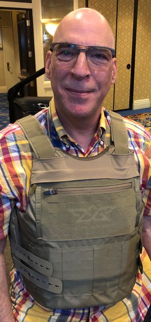 The author is pictured wearing Angel Armor's RISE 2.0 carrier, which has been redesigned for improved comfort. (Photo/Ron LaPedis)