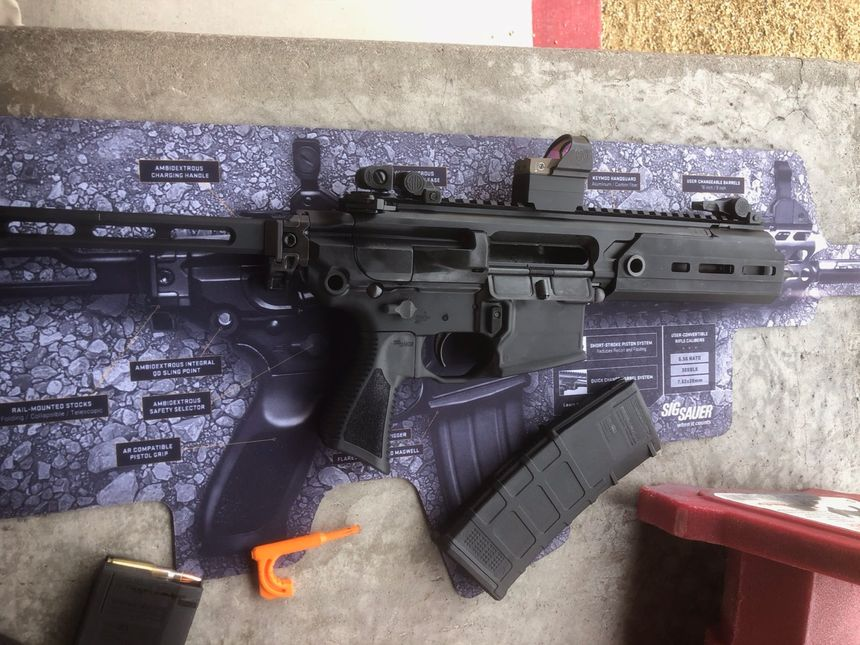 The compact SIG MCX RATTLER is an attention getter when it barks. (Photo/Mike Wood)