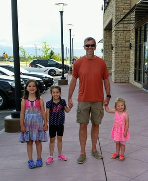 Don Soltis with his granddaughters Olivia, Lilah and Allie (from left to right.) (image/ Don Soltis)