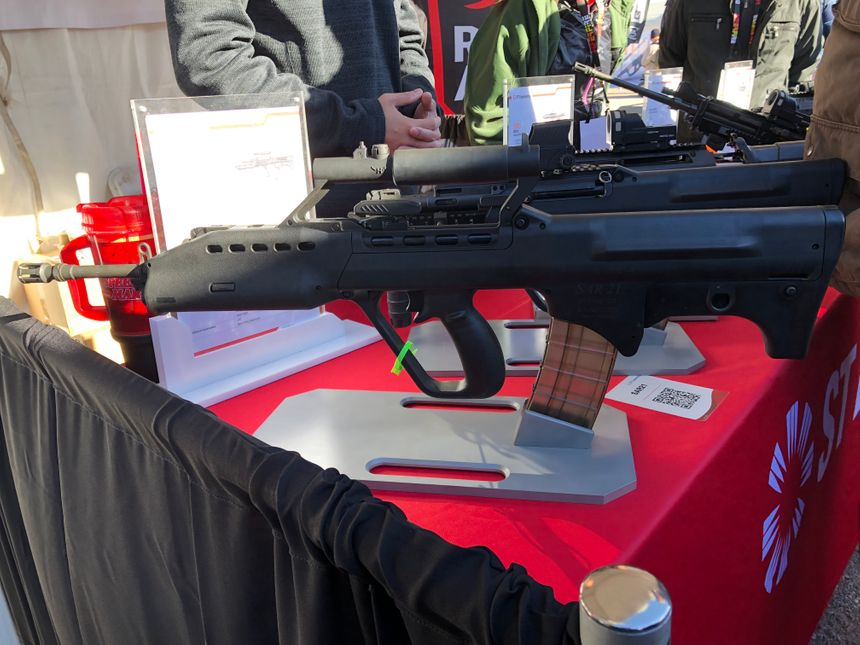 The SAR21 rifle offers high firing accuracy. (Photo/Ron LaPedis)
