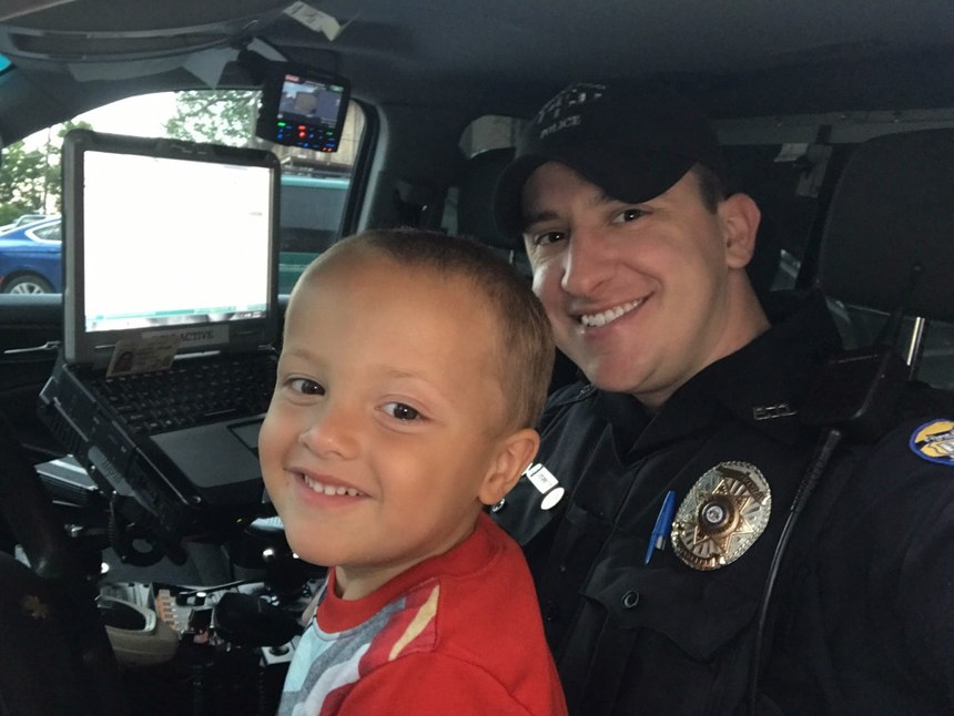 Sterrett has a particular soft spot for children, and takes the time to connect with them whenever he can on patrol. (Photo/Tim Sterrett)