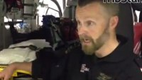 Medic discusses blood analysis on board helicopter