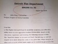 Detroit firefighter punished for new rig complaint