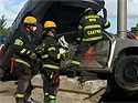 Fla. firefighters practice vehicle extrication