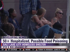50 at homeless shelter ill from suspected food poisoning