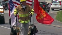 Marine veteran treks country for fallen firefighters