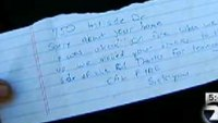 Cal Fire crews leave family note after fire destroys home