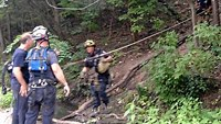 Firefighters rescue teen from 300-foot cave