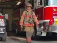Firefighters join running man challenge