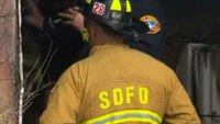Calif. firefighter injured after falling through roof