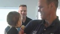 Firefighter reunites with man he saved, meets son