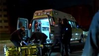 Stretcher carrying shooting victim tips over