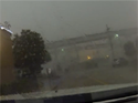 Train gets blown off track by strong winds