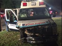 Dash cam: White Rose Ambulance collision with wrong-way driver