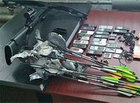 Man uses crossbow to fire phones into prison